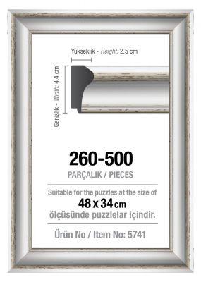 Art Puzzle 260/500'lük Beyaz 48 x 34 cm Puzzle Çerçevesi (43 mm)
