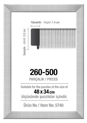 Art Puzzle 260/500'lük Beyaz 48 x 34 cm Puzzle Çerçevesi (30 mm)