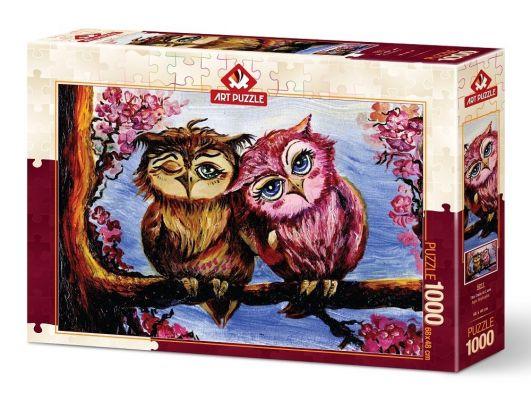 Art Puzzle Aşık Baykuşlar 1000 Parça Puzzle