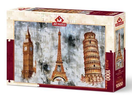 Art Puzzle Üç Şehir Üç Kule 1000 Parça Puzzle