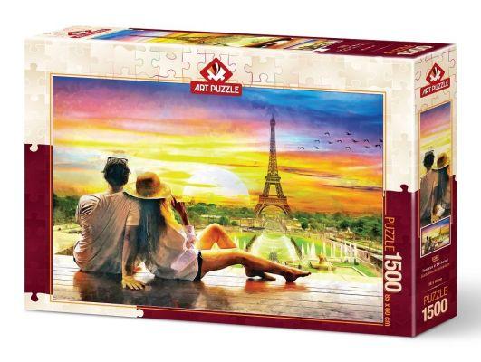 Art Puzzle Günbatımında Romantizm 1500 Parça Puzzle