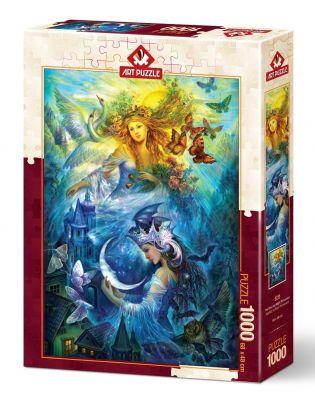 Art Puzzle Gündüz ve Gece Prensesleri 1000 Parça Puzzle