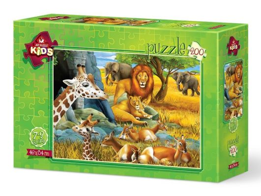 Art Puzzle Orman Hayvanları 200 Parça Yapboz