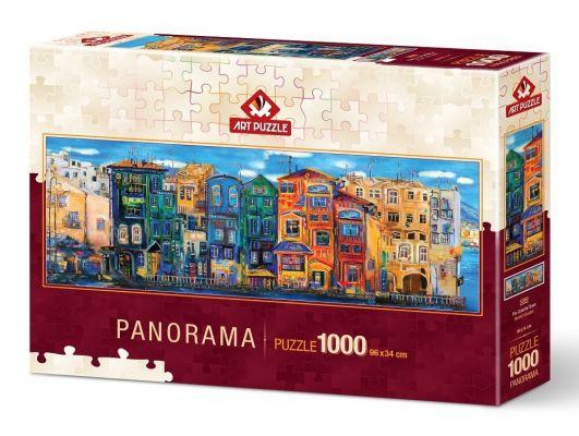 Art Puzzle Renkli Kasaba 1000 Parça Panorama Puzzle