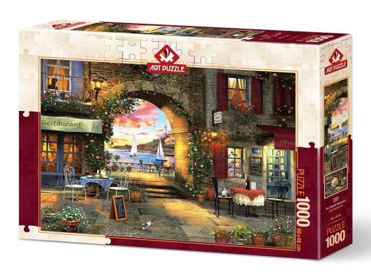 Art Puzzle Sahil Restaurant 1000 Parça Puzzle