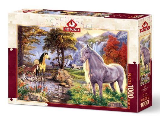 Art Puzzle Saklı Atlar 1000 Parça Puzzle