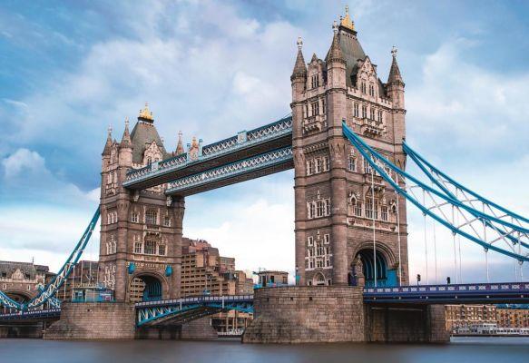 Tower Bridge Over Thames River, England