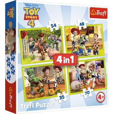 Toy Story 4, Toy Team 4\'lü 35+48+54+70 Parça Yapboz
