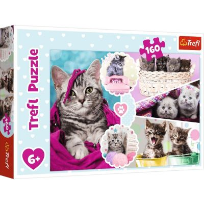 Trefl Çoçuk Puzzle Lovely Kittens 160 Parça Puzzle