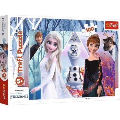 Trefl Çoçuk Puzzle Enchanted Land Dısney Frozen 2 100 Parça Puzzle