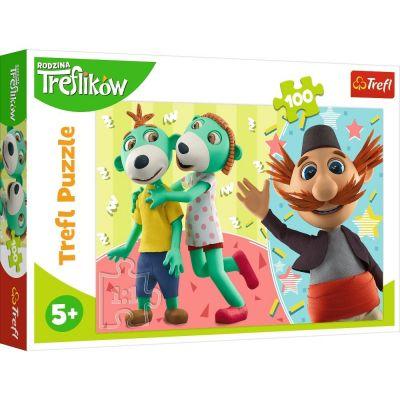 Trefl Çoçuk Puzzle Treflıks And Uncle 100 Parça Puzzle