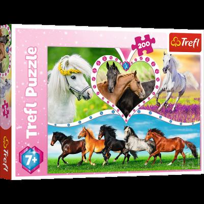 Trefl Puzzle Beautiful Horses 200 Parça Yapboz