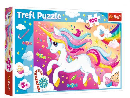 Trefl Puzzle Beautiful Unicorn 100 Parça Yapboz