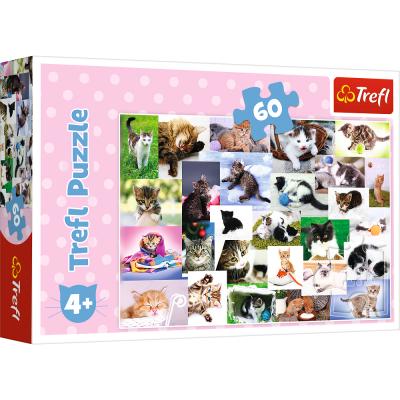 Trefl Puzzle Cat's World 60 Parça Yapboz