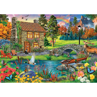 Trefl Puzzle Cottage In The Mountains 6000 Parça