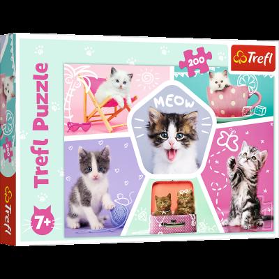 Trefl Puzzle Feline Pranks 200 Parça Yapboz