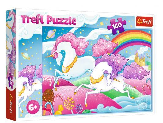 Trefl Puzzle Galloping Unicorns 160 Parça Yapboz