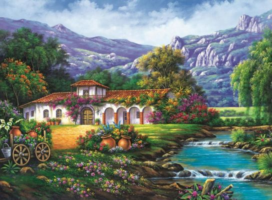 Trefl Puzzle Hacienda By The Stream 3000 Parça