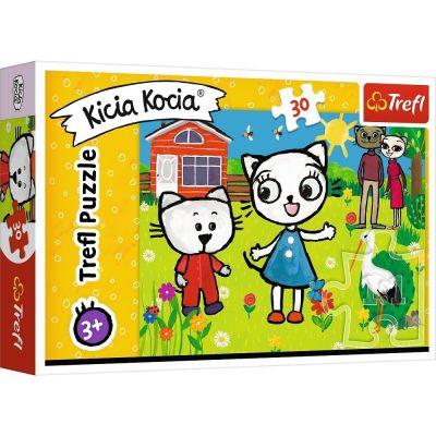 Trefl Puzzle Kicia Kocia Kitty Cat's Adventure 30 Parça Yapboz