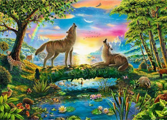 Trefl Puzzle Lupine Nature 500 Parça