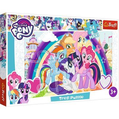 Trefl Puzzle My Little Pony Happy Ponies 24 Parça Maxi Yapboz
