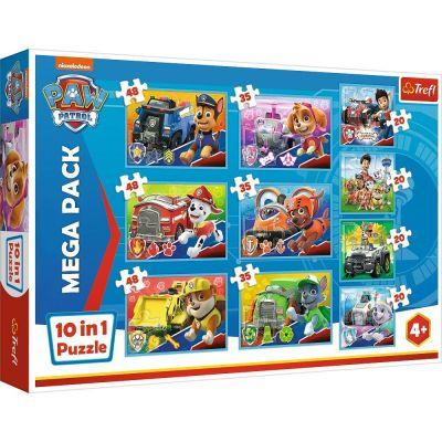 Trefl Puzzle Paw Patrol Team 10'lu 4x20+3x35+3x48 Parça Yapboz