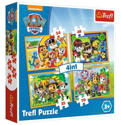 Trefl Puzzle Paw Petrol Always On Time  4\'lü 35+48+54+70 Parça Yapboz