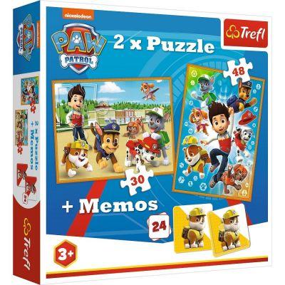 Trefl Puzzle Paw Petrol To The Rescue 2'li 30+48 Parça Yapboz 1 Memory Oyun