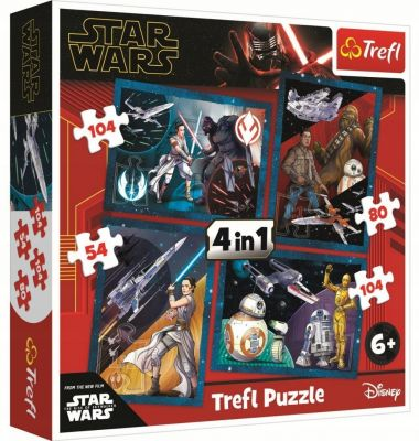 Trefl Puzzle Star Wars Episode IX Feel The Force 4'lü 35+48+54+70 Parça Yapboz