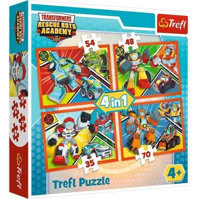 Trefl Puzzle Transformers Academy 4'lü 35+48+54+70 Parça Yapboz