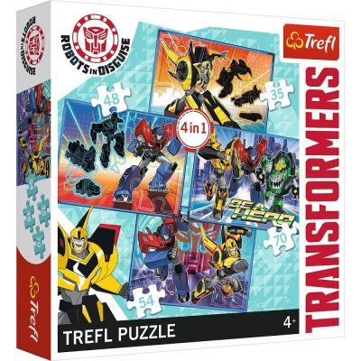 Trefl Puzzle Transformers Transformation Time 4'lü 35+48+54+70 Parça Yapboz