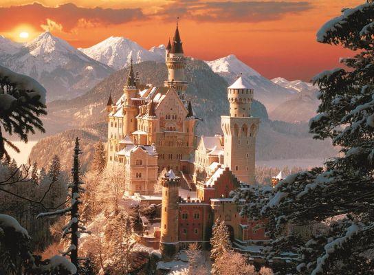 Wintry Neuschwanstein Castle, Germany