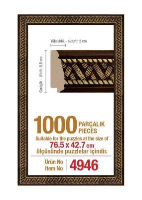 1000\'lik Panorama 76.5 x 42.7 cm Puzzle Çerçevesi