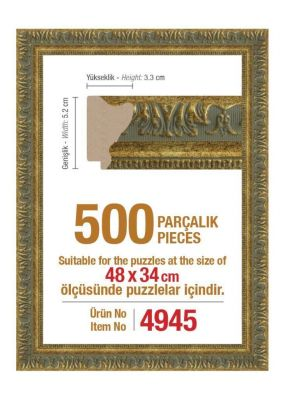 500\'lük 48 x 34 cm Puzzle Çerçevesi