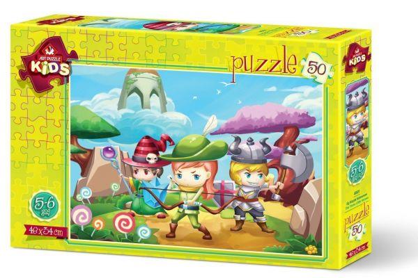 Art Çocuk Puzzle Üç Küçük Kahraman 50 Parça Puzzle