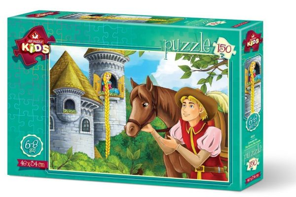 Art Çocuk Puzzle Şatodaki Kız 150 Parça Puzzle