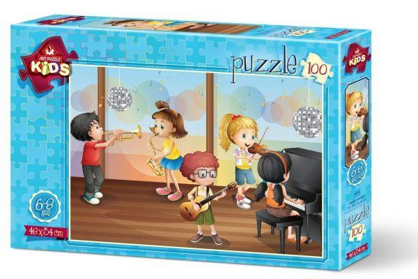 Art Çocuk Puzzle Küçük Orkestra 100 Parça Puzzle