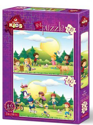 Art Çocuk Puzzle Oyun Zamanı 35+60 Parça Puzzle