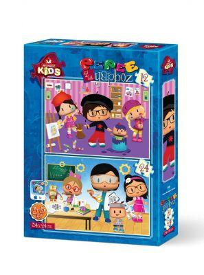 Art Çocuk Puzzle Pepee Mesleğini Seçiyor 12 + 24 Parça
