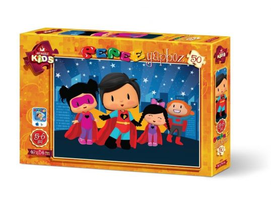 Art Çocuk Puzzle Pepee Süper Kahraman 50 Parça