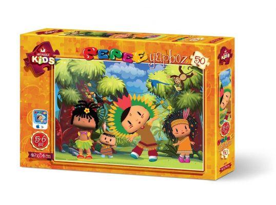 Art Çocuk Puzzle Pepee Kabile Reisi 50 Parça