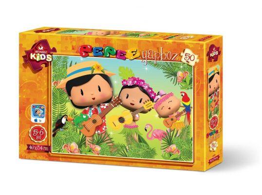 Art Çocuk Puzzle Pepee\'nin Orman Müzikali 50 Parça