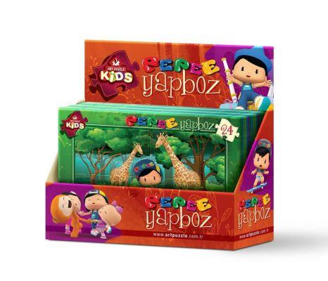 Art Çocuk Puzzle Pepee Frame Puzzle 36\'lı Stand