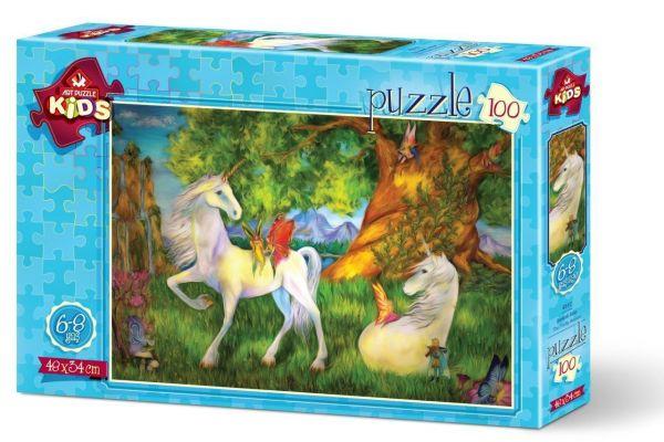 Art Çocuk Puzzle Sevimli Atlar 100 Parça Puzzle