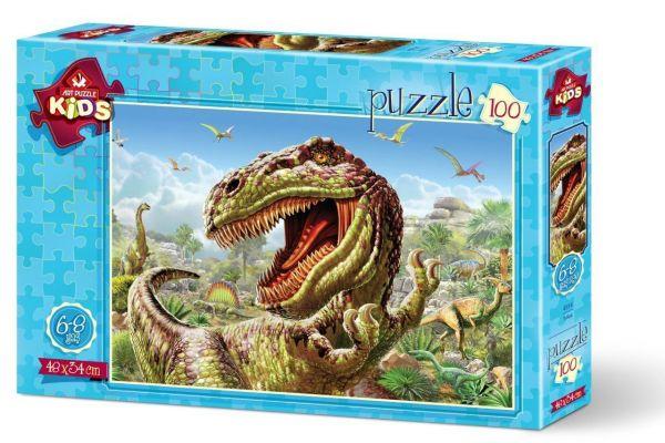 Art Çocuk Puzzle T-Rex 100 Parça Puzzle
