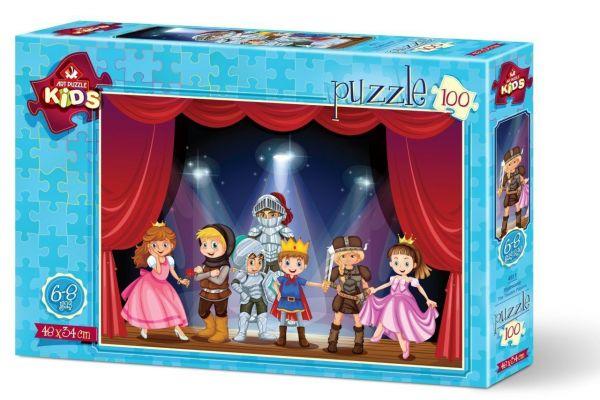 Art Çocuk Puzzle Tiyatrocular 100 Parça Puzzle