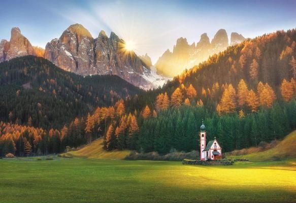 Church In Dolomites