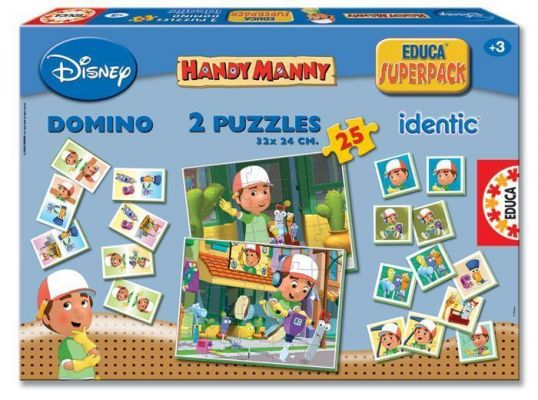 EDUCA PUZZLE SUPERPACK HANDY MANNY