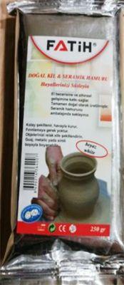 Fatih Dopal Kil Seramik Hamuru Beyaz 250 gr