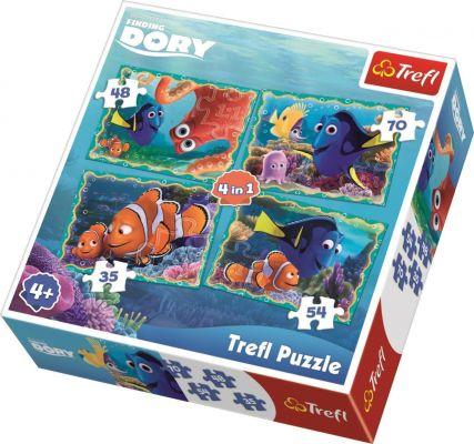 Finding Dory Underwater 4\'lü 35+48+54+70 Parça Yapboz